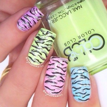 Animal print pastels  nail art by Virginia