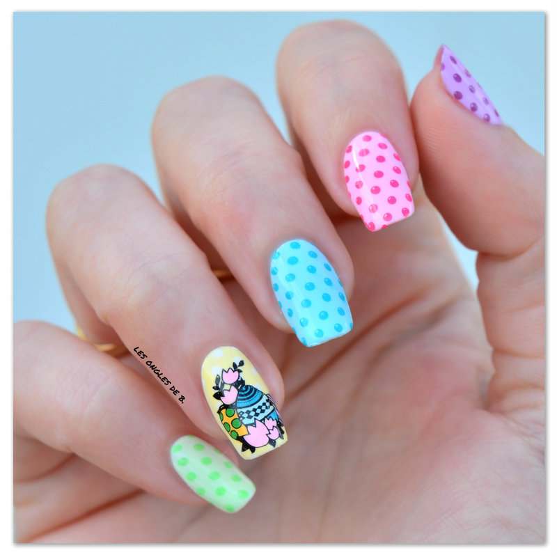 Happy easter nail art by Les ongles de B.
