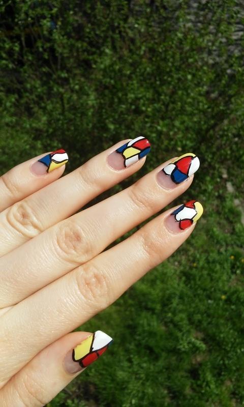 simple mosaic nail art by irenek