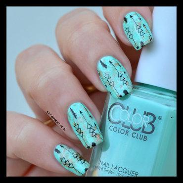 Saran Wrap & Stamping nail art by Les ongles de B.
