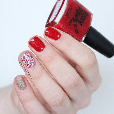 Leading Lady Stamp nail art by NailThatDesign