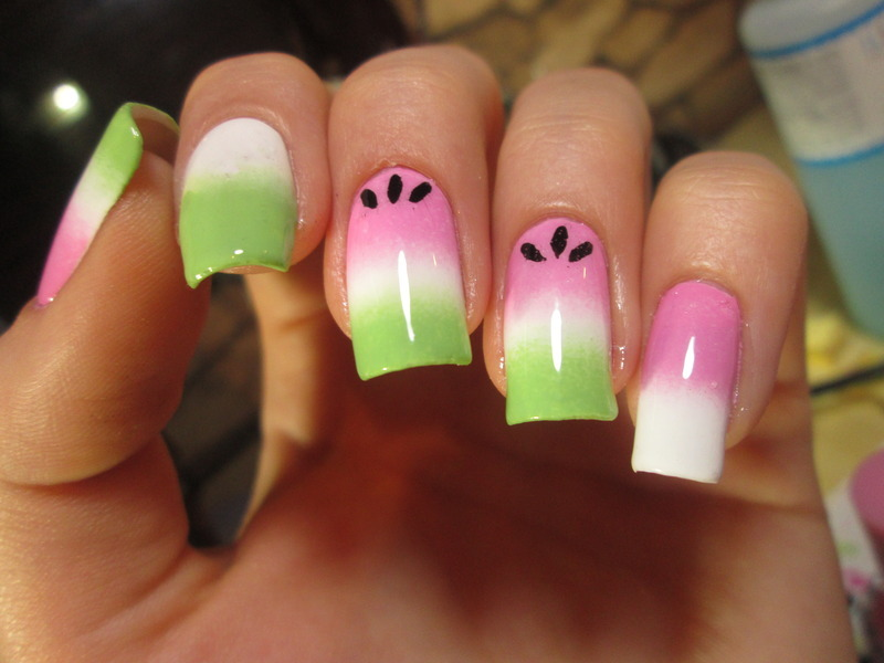watermelon nail art by NailArt_T