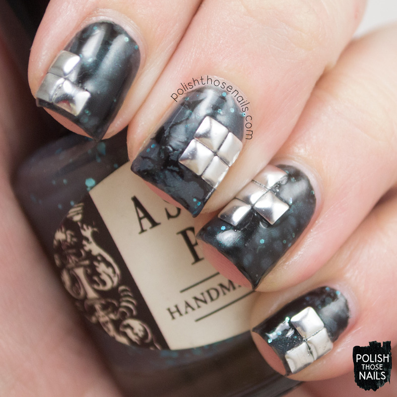 Waterspotted Punk nail art by Marisa  Cavanaugh