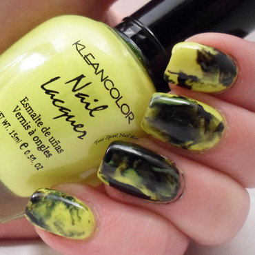 Neon Marbled Stone nail art by Free_Spirit_Nail_Art