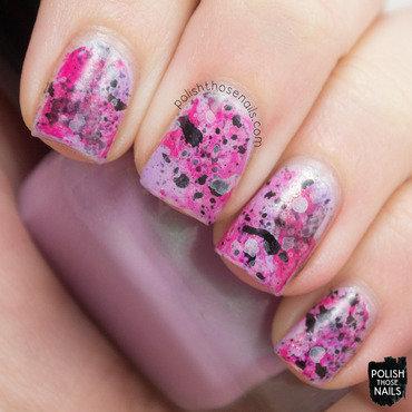 Pink lilac splatter nail art 4 thumb370f