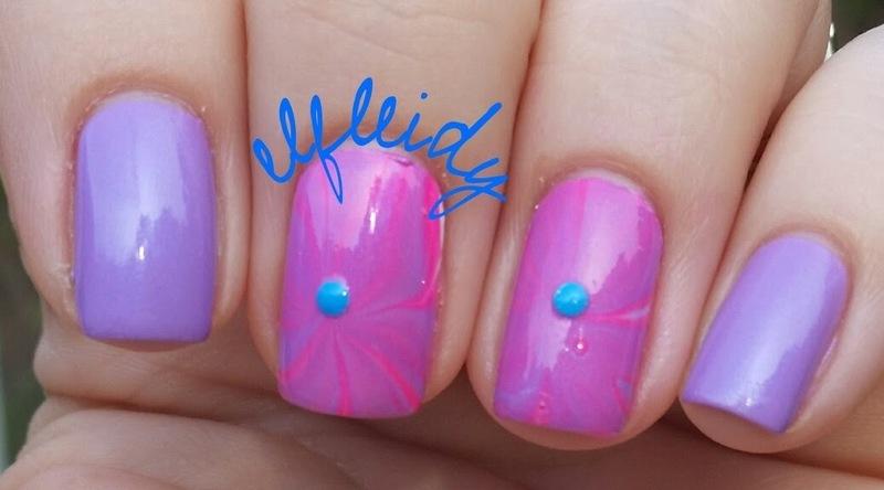 40 Great Nail Art Ideas- pink and lilac nail art by Jenette Maitland-Tomblin