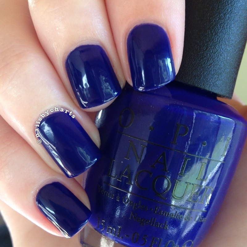 OPI My Car has Navy-gation Swatch by Claudia