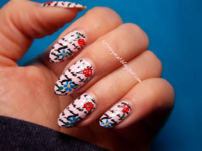 A love letter nail art by notcopyacat