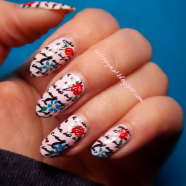A love letter nail art by notcopyacat