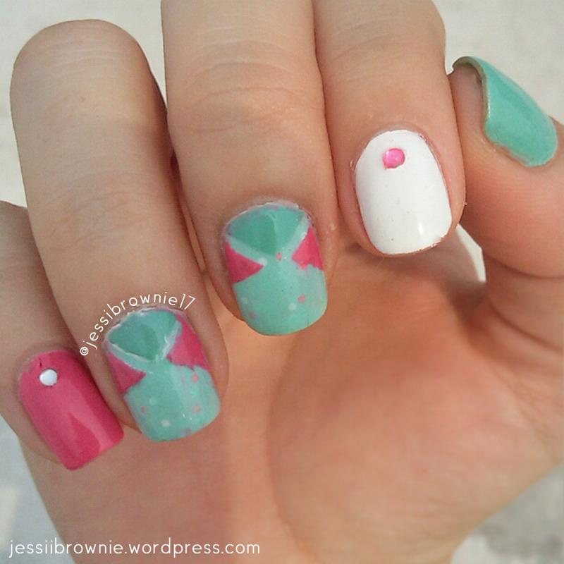 Glittered Shapes nail art by Jessi Brownie (Jessi)