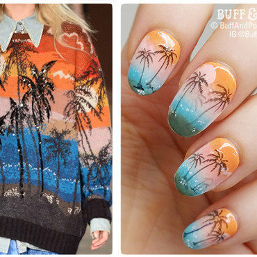Fashion Inspired – Alessandro Dell Acqua for NAFW2016 nail art by Buff & Polish