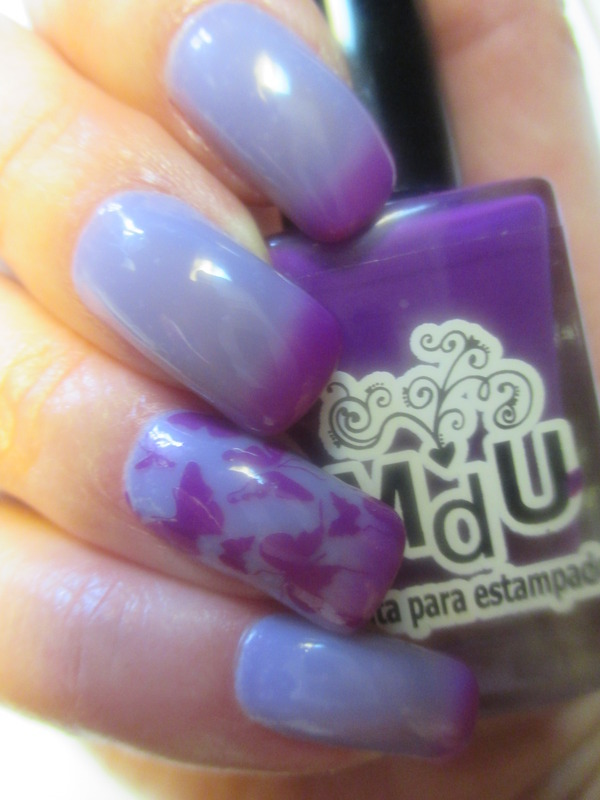 Butterfly Moods nail art by NinaB