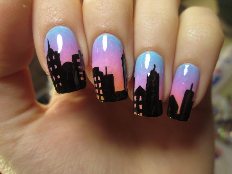 skyline nail art by NailArt_T