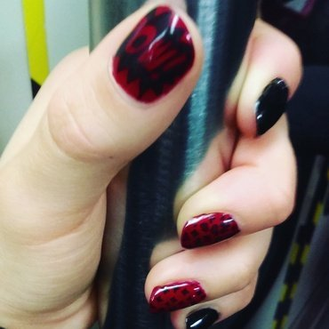 Harley Queen nails  nail art by Ro Ags