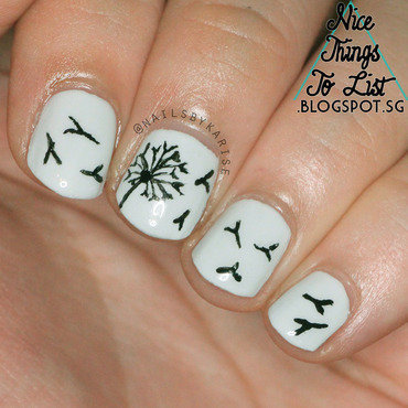 Glamnailschallenge april dandelion nail art thumb370f