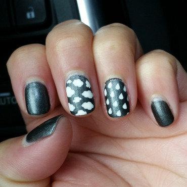 Rainy Day Nails nail art by kitalovessm