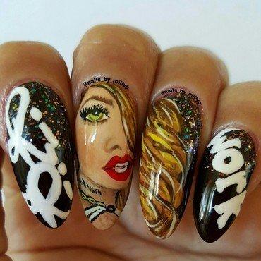 Rihanna Portrait  nail art by Milly Palma