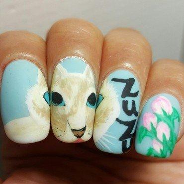 ZuZu  nail art by Milly Palma