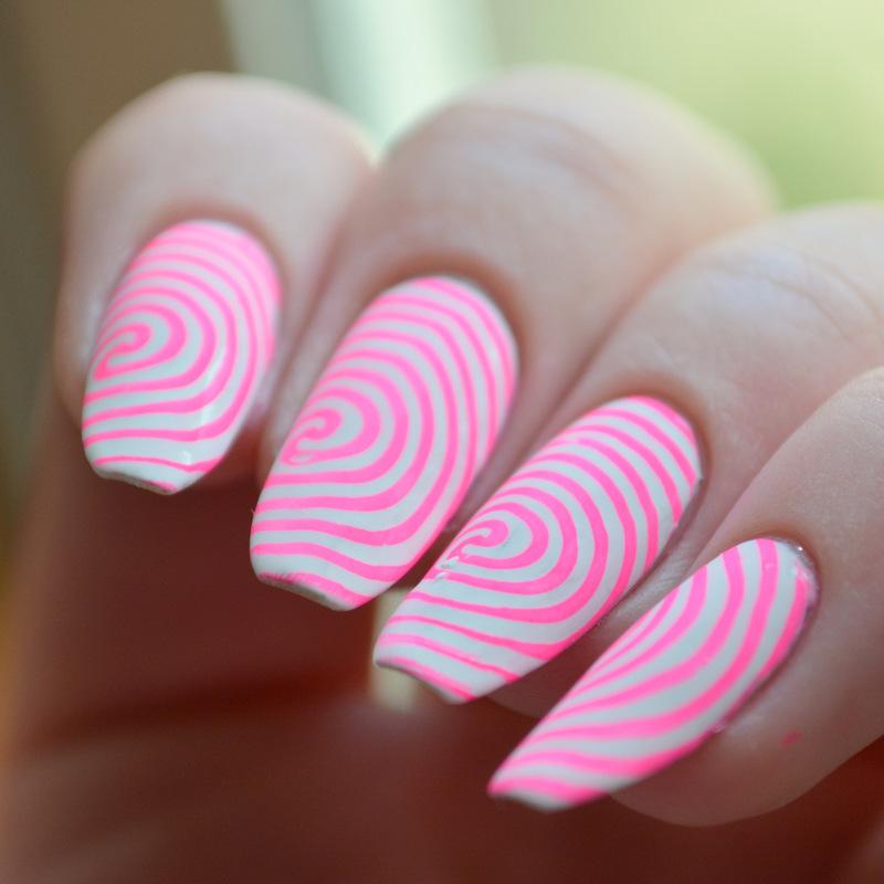 Surimi Swirls nail art by girlchickbetty