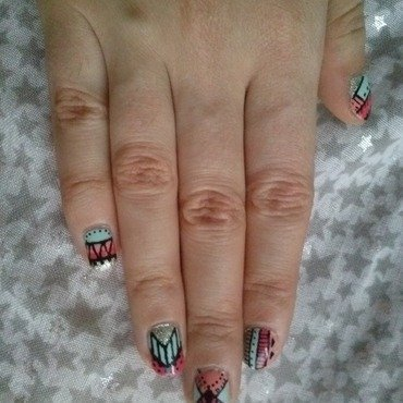 Ethnic  nail art by Alizee