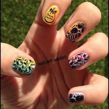 Nail Art : Stamping Pâques nail art by SowNails