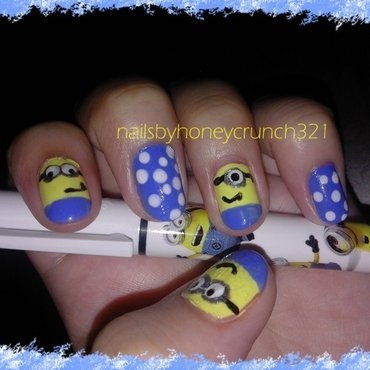 Minions nail art by honeycrunch321