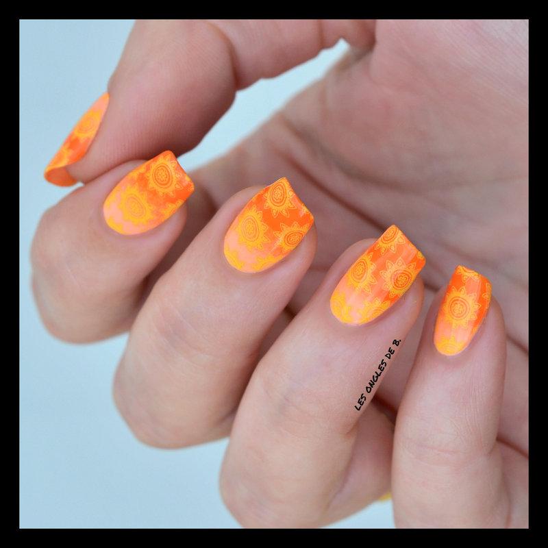 Vitamine nail art by Les ongles de B.