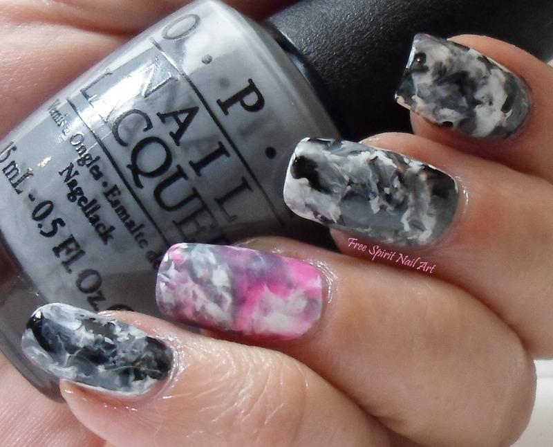 Gray Marble Nail Art nail art by Free_Spirit_Nail_Art