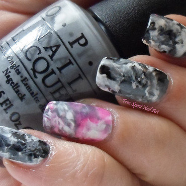Gray marbled nail art 2 thumb370f