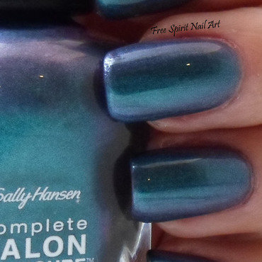 Sally Hansen black and blue Swatch by Free_Spirit_Nail_Art