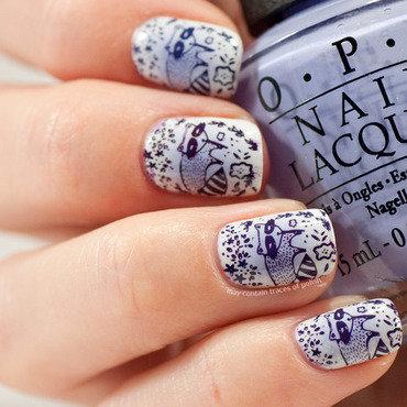 Radial gradient stamping. nail art by Zara TracesOfPolish