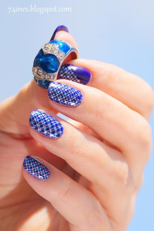 http://74ines.blogspot.com/2016/04/livin-on-edge.html nail art by 74ines