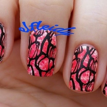 Tulips nail art by Jenette Maitland-Tomblin