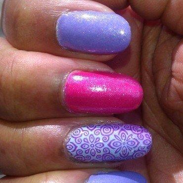 Purple Rain nail art by Jackie Bodick