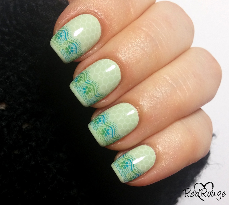 Double lace nail art by RedRouge