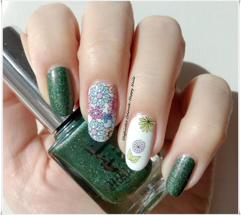 Flower Power  nail art by Oana  Alexandru