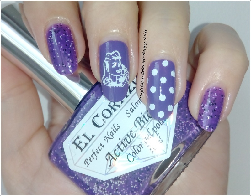 Pretty in Polka dots nail art by Oana  Alexandru
