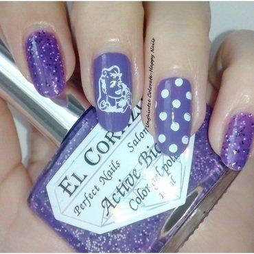 Pretty in Polka dots nail art by Oana  Alexandru