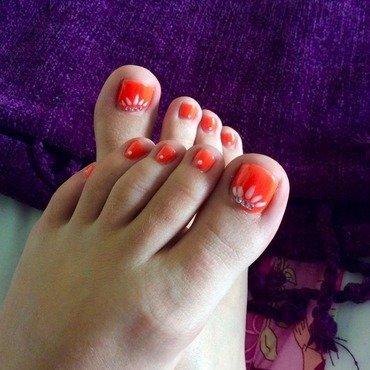 Neon orange  nail art by Willr024