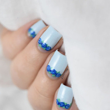 Blue floral half moon 20 1  thumb370f