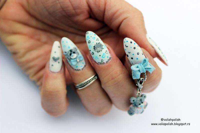 Me To You Tatty Teddy  nail art by Volish Polish