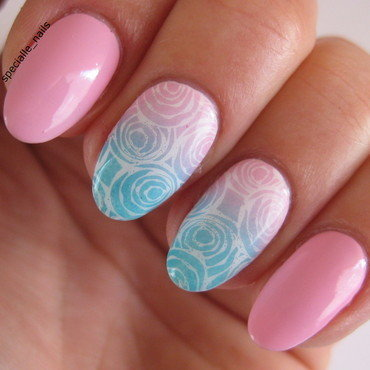 Pastel roses nail art by specialle