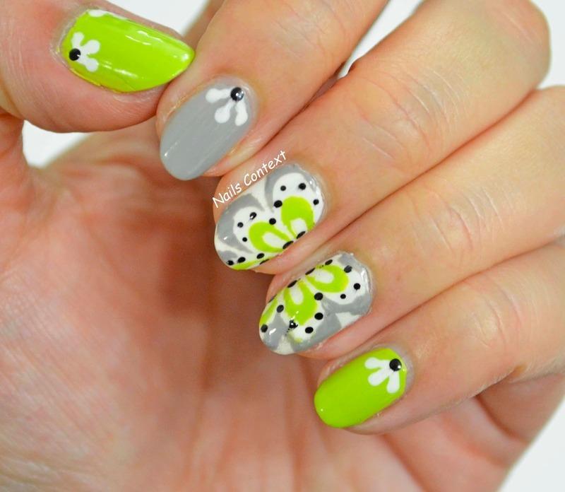 Watermarble Stencils  nail art by NailsContext