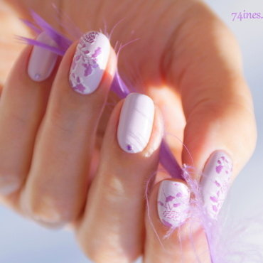 Making love nail art by 74ines