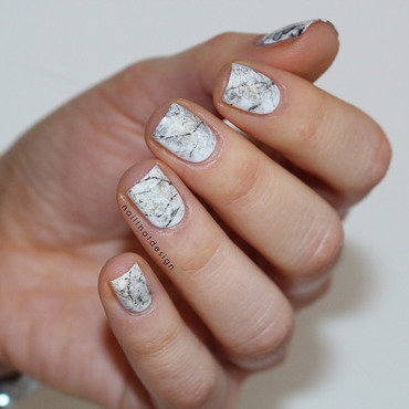 Stone Marble Nails  nail art by NailThatDesign