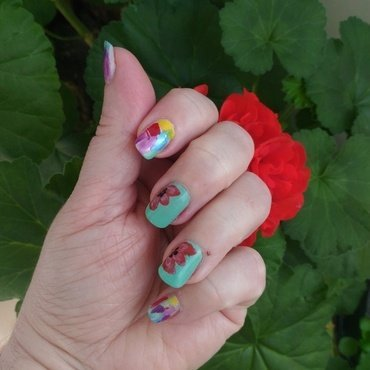 Easter mani nail art by tigerlyly