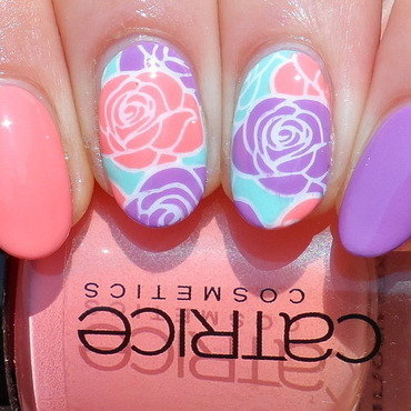 The Power of Flower nail art by Plenty of Colors