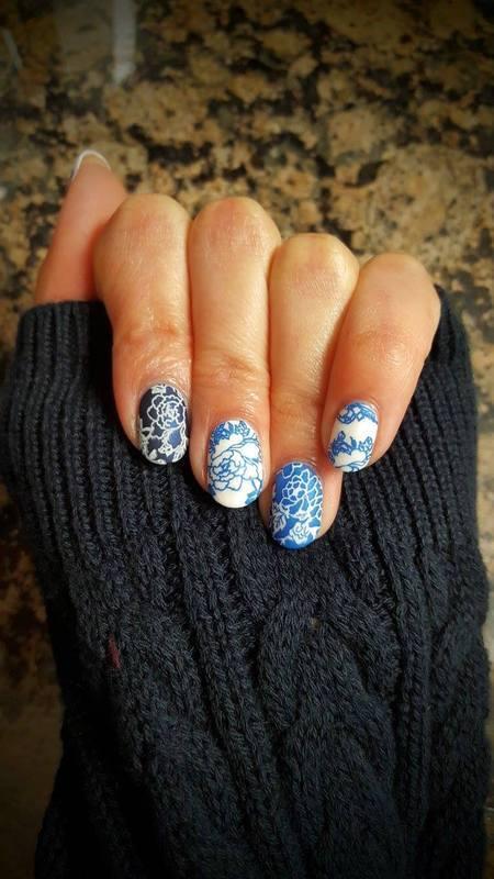 Delicate China Dishes nail art by Alisha Worth