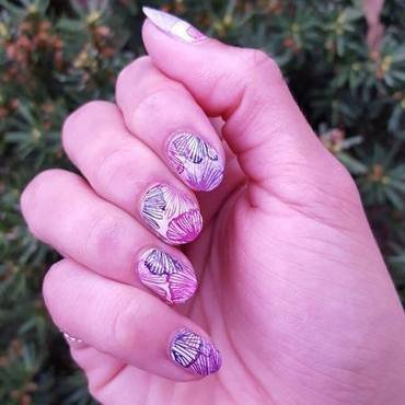 Floral Watercolor nail art by Alisha Worth