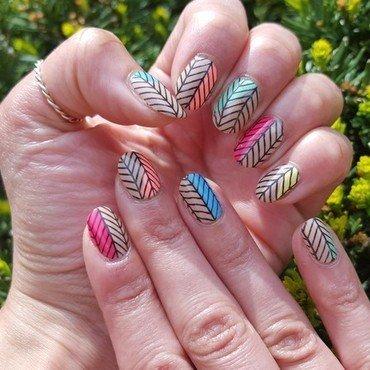 Mini Modern Art nail art by Alisha Worth